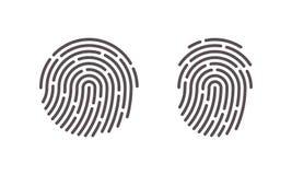 Fingerprint vector finger print scan logo icons Stock Images