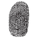 Fingerprint vector illustration Royalty Free Stock Photography