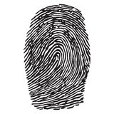 Fingerprint vector illustration Stock Photos