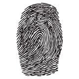 Fingerprint vector illustration. Black silhouette of fingerprint vector illustration fingerprint icon fingerprint scan Stock Photos