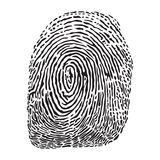 Fingerprint vector illustration. Royalty Free Stock Photo