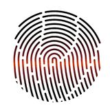 Fingerprint. Vector illustration. Security system. Digital lock. Fingerprint. Vector illustration. Security system Digital lock icon Stock Image