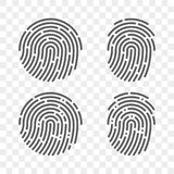 Fingerprint vector finger print logo icons. Fingerprint vector logo or finger print scan for ID security access icon Stock Images