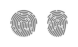 Fingerprint vector finger print logo icons. Fingerprint vector logo or finger print scan for security access icon Royalty Free Stock Photo