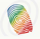 fingerprint vektorn Arkivfoton