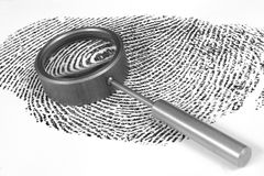 Fingerprint. On white background Royalty Free Stock Photo