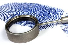 Fingerprint. On white background Royalty Free Stock Photography