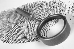 Fingerprint. On white background royalty free stock images