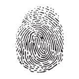 Fingerprint on white background. Vector black isolated fingerprint on white background Royalty Free Stock Photos