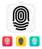Fingerprint whorl type icon. Stock Images