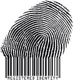 Fingerprint17barcode1 stock photo
