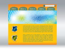 Fingerprinted web template. Cool fingerprinted website template in orange Royalty Free Stock Image