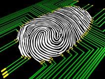 Fingerprinting. Scanning of a fingerprint with  new technologies Stock Images