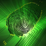 Fingerprinting fotos de stock royalty free