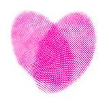 fingerprints сердце Стоковые Изображения