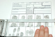 Fingerprints Royalty Free Stock Photos