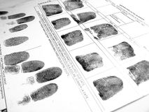 Fingerprints stock photography