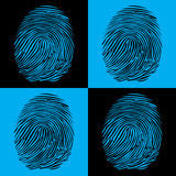 Fingerprints. Detailed illustration pop art style Royalty Free Stock Photos