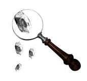 Fingerprints. On a white bg Royalty Free Stock Photos