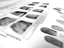 Fingerprints Royalty Free Stock Photography