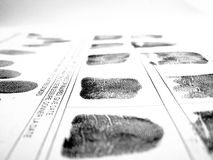 Fingerprints royalty free stock images