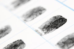 Fingerprints Stock Image