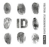 fingerprints stock de ilustración