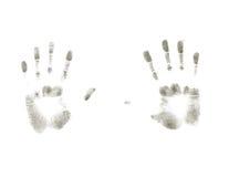 Fingerprints. Gray fingerprints isolated on white background stock illustration