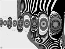 Fingerprints with bipolar disorder. This is a black and white rendering of abstract fingerprints in a high resolution fine art treatment Royalty Free Stock Image