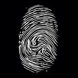 Fingerprints on black. Fingerprints of white paint on a black background Royalty Free Stock Image