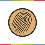 Fingerprints color icon vector illustration Royalty Free Stock Images