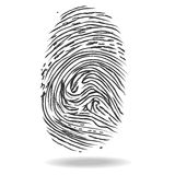Fingerprints. Crime and safety concept Royalty Free Stock Images