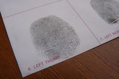 Fingerprints examination Stock Photography