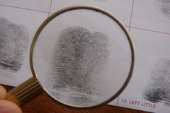 Fingerprints examination Royalty Free Stock Photos