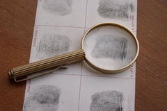 Fingerprints examination Royalty Free Stock Photo