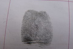 Fingerprints examination Royalty Free Stock Image
