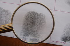 Fingerprints examination Royalty Free Stock Photography