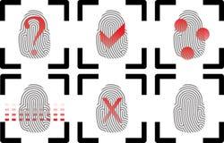 Fingerprints. Fingerprint icons. Vector Illustrator eps 10 Royalty Free Stock Images