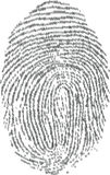 Fingerprints. Fingerprint made with binary code, futuristic bionic concept. Vector Illustrator eps 10 Stock Photography