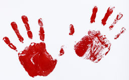 Fingerprints and hands Royalty Free Stock Image