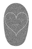 Fingerprints and heart. Fingerprints in a heart shape Royalty Free Stock Photography