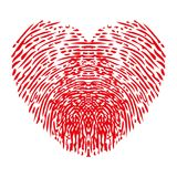 Fingerprints heart - stock vector. Fingerprints heart sign - stock vector Royalty Free Stock Photo