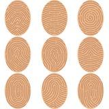 Fingerprints icon. Flat design,  illustration Royalty Free Stock Photo