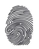 Fingerprints. Realistic fingerprint isolated on a white background. Fingerprint icon. Black fingerprint. Vector fingerprint Royalty Free Stock Images