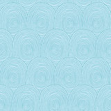 Fingerprints seamless pattern. In blus colors is hand drawn composition. Illustration is in eps8 vector mode, background on separate layer Royalty Free Stock Image