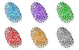 Fingerprints Set Stock Photo