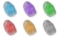 Fingerprints Set Stock Photo