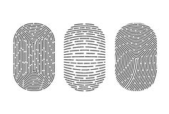 Fingerprints set. Vector Security system. Digital lock. Fingerprints set. Vector illustration. Security system Digital lock Royalty Free Stock Image