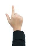 Fingerpunkt Arkivbild