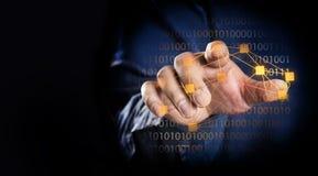 Fingerpunkt eller handlag på skärmen Royaltyfri Fotografi